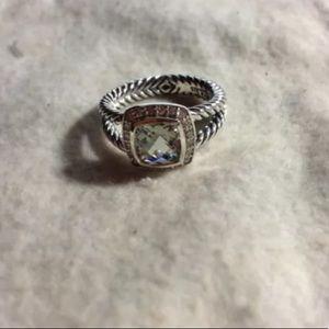 David Yurman Petite Albion Ring Prasiolite Size 6